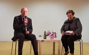 Pogovor Žive Gruden z Zdravkom Likarjem z naslovom Kjer je volja tan je pot. Foto: Nataša Hvala Ivančič