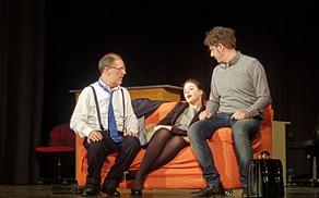 """Program se je nadaljeval z gledališko predstavo Beneškega gledališča """"Ključ, ključ"""", s katero so Benečani nasmejali občinstvo. Foto: Nataša Hvala Ivančič"""