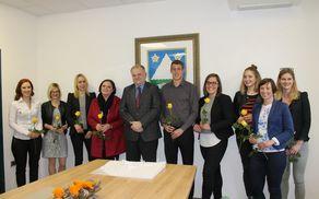 Župan Občine Kobarid Robert Kavčič, se je prvič v tem letu srečal z diplomanti in magistri iz občine Kobarid. Foto: Tanja Skočir