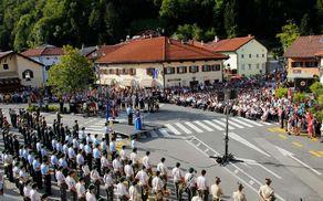 Koncert Zbogom orožje v Kobaridu. Foto: Miha Uršič