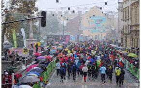 17. Ljubljanski maraton je zaznamoval sneg. Foto: Arhiv Ljubljanski maraton.