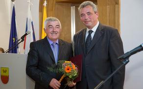 Častni občan Zlatko Martin Marušič in župan Mauricij Humar. Vse fotografije: Jasmina Putnik