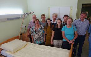 Skupina, ki je prispevala, da je paliativna soba uspešna zgodba.
