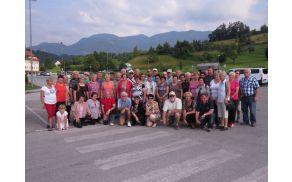Invalidi Društva invalidov slovenj Gradec na srečanju invalidov v Logarski dolini