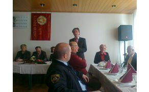 Zbor sta nagovorila tudi župan MO Slovenj Gradec Andrej Čas in župan Občine Mislinja Franc Šilak