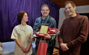 Jožef Kramberger je prejel plaketo. Foto: Srečko Brumen.