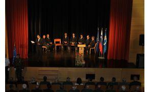Praznovanje dneva državnosti je povezoval Matej Kavčič. Foto: D.I.