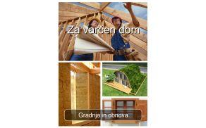 Brezplačni e-priročnik Za varčen dom: Gradnja in obnova