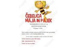 Društvo Most mladih vabi na gledališko predstavo Čebelica Maja in pajek.