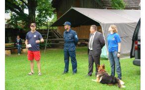 Druga mednarodna vaja vodnikov reševalnih psov v Vojniku.