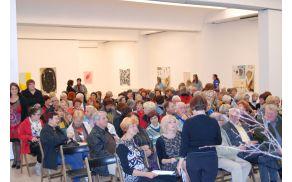 Svečana otvoritev Univerze za tretje življenjsko obdobje v Koroški galeriji likovnih umetnikov.