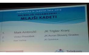 Prireditev  judoistka in judoist leta 2015