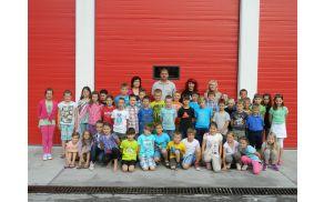 Gasilska slika učencev v GD. Foto: Danijel Markič