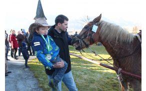 Najmlajši ljubitelj konj je dobil spominsko kolajno.