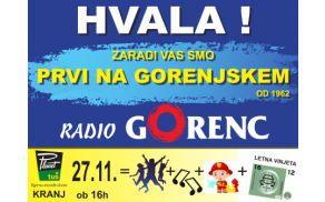 Radio Gorenc s sedežem v Tržiču praznuje 53. rojstni dan