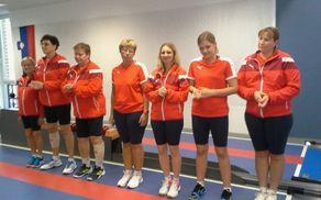 Na sliki z leve: Rozi Flisar, Silva Zupančič, Milena Veber Jarc, Slavica Hribšek, Jasmina Mišič, Nika Radelj in Katja Šribar (FOTOGRAFIJA: Niko Goleš)