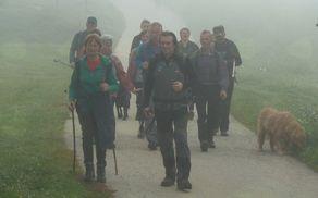 Skupina pohodnikov iz smeri Dolenjskih Toplic