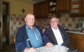 Slavljenec Jurij Korošec in predsednik DU Vojnik Marijan Kajzba