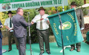 Župan Branko Petre, boter prapora