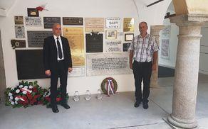Albin Apotekar in Marko Zdovc na gradu Hartheim