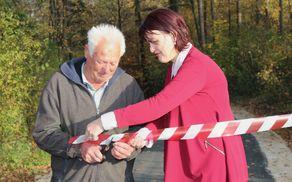 Asfaltirana cesta Pot v Konjsko bo olajšala pristop in varnost.