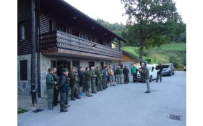 Jutranji zbor pri lovskem domu Zreče