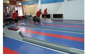 Tekmovalci iz DI Slovenj Gradec na OT v kegljanju posamezno na stezi