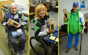 Trije paraolimpijci. Foto: Henrik Valentinčič