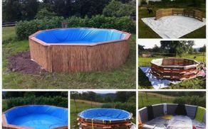 Poglejte, kako iz običajnih lesenih palet sestaviti pravi pravcati bazen, ki vas bo hladil čez poletje
