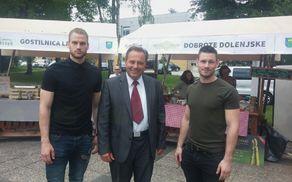 organizatorja dogodkov: Matjaž Longar, Alen Štritof in župan občine Trebnje Alojzij Kastelic