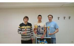 Slovenski pokal (z leve) : Nejc. Škrlep, Jaka. Škrlep, Bernard. Škrlep