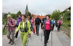 Vas Velike Poljane nad Ortnekom je bila hitro za nami (foto Tatjana Rodošek)