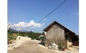 Gradbišče na Zgornji Beli (foto Media butik)