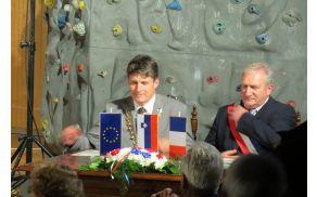 Župana občin Tržič in Sainte-Marie-aux-Mines, mag. Borut Sajovic in Claude Abel sta obnovila listino o pobratenju