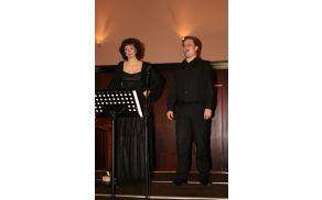 Jadranka Juras, mezzosopranistka in Andrej Oder, tenorist; foto: Vesna Novak