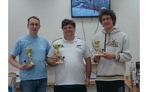 Sevnica Open 2016 - zmagovalna trojica (z leve: Bernard, Marko in Rok)