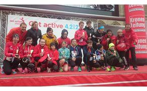Zmagovalci otroškega dela dunajskega maraton in organizacijska ekipa