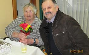 Gospo Slavko je ob njenem 80. rojstnem dnevu obiskal tudi župan Kastelic.