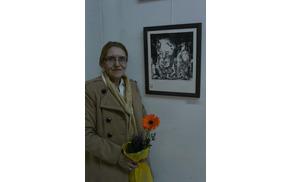 Barbara Rabič  ob svojem nagrajenem delu