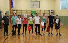 Podelitev najboljšim dvojicam v badmintonu
