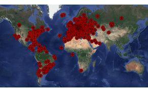 zemljevid lokacij ostalih tekmovalcev