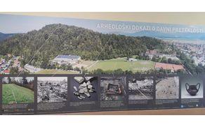 Ortofoto posnetek najdb v okolici Osnovne šole Mengeš in območja Gobavice