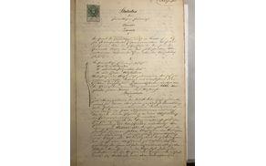 Prva stran statuta iz leta 1885