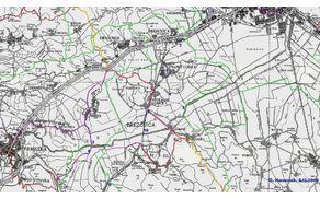 Na zemljevidu je vrisanih enajst problematičnih točk na varnejših poteh, kiso bile posredovane na Občino Brezovica 8.12.2008.