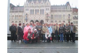 Mirnopeški upokojenci v Budimpešti pred parlamentom