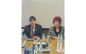 Župan Občine Tržič mag. Borut Sajovic z varuhinjo človekovih pravic RS Vlasto Nussdorfer