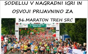 """Sodeluj v nagradni igri """"Maraton treh src"""""""