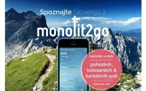 Z aplikacijo Monolit2Go boste našli vse poti na enem mestu, na eni karti.