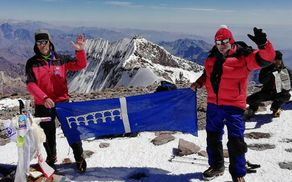 Nejc in Andrej na vrhu Aconcague
