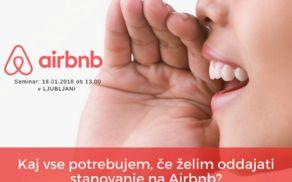 Seminar Airbnb poslovanje 18.01.2018 v Ljubljani
